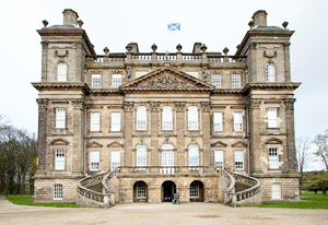 A straight on view of Duff House