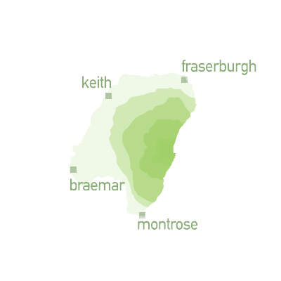 map graphic for zone 6 - Keith, Fraserburgh, Braemar and Montrose